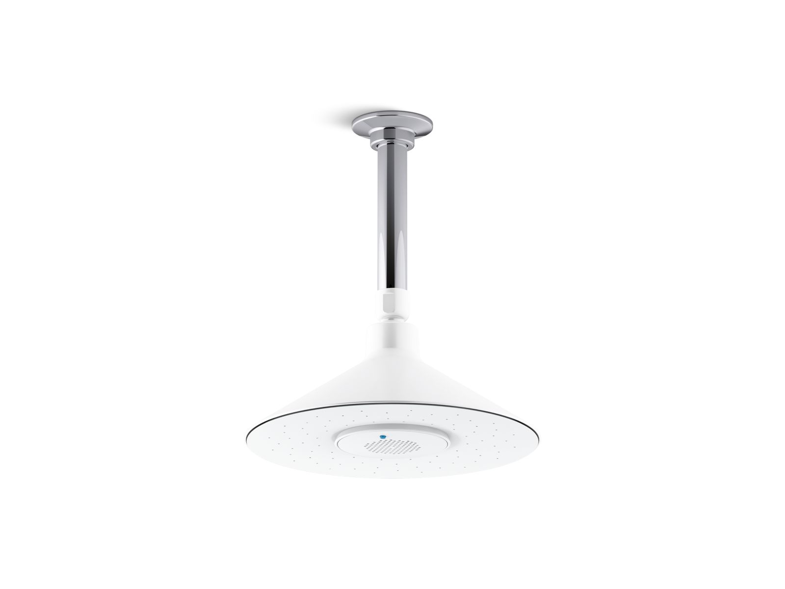 Kohler Moxie® K-99105-E-0 2.0 gpm rainhead with wireless speaker White