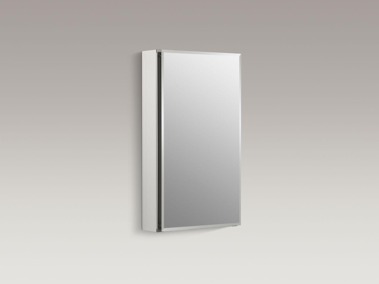 "Kohler K-CB-CLC1526FS Aluminum 15"" x 26"" Single-door Medicine Cabinet with Square Mirrored Door"