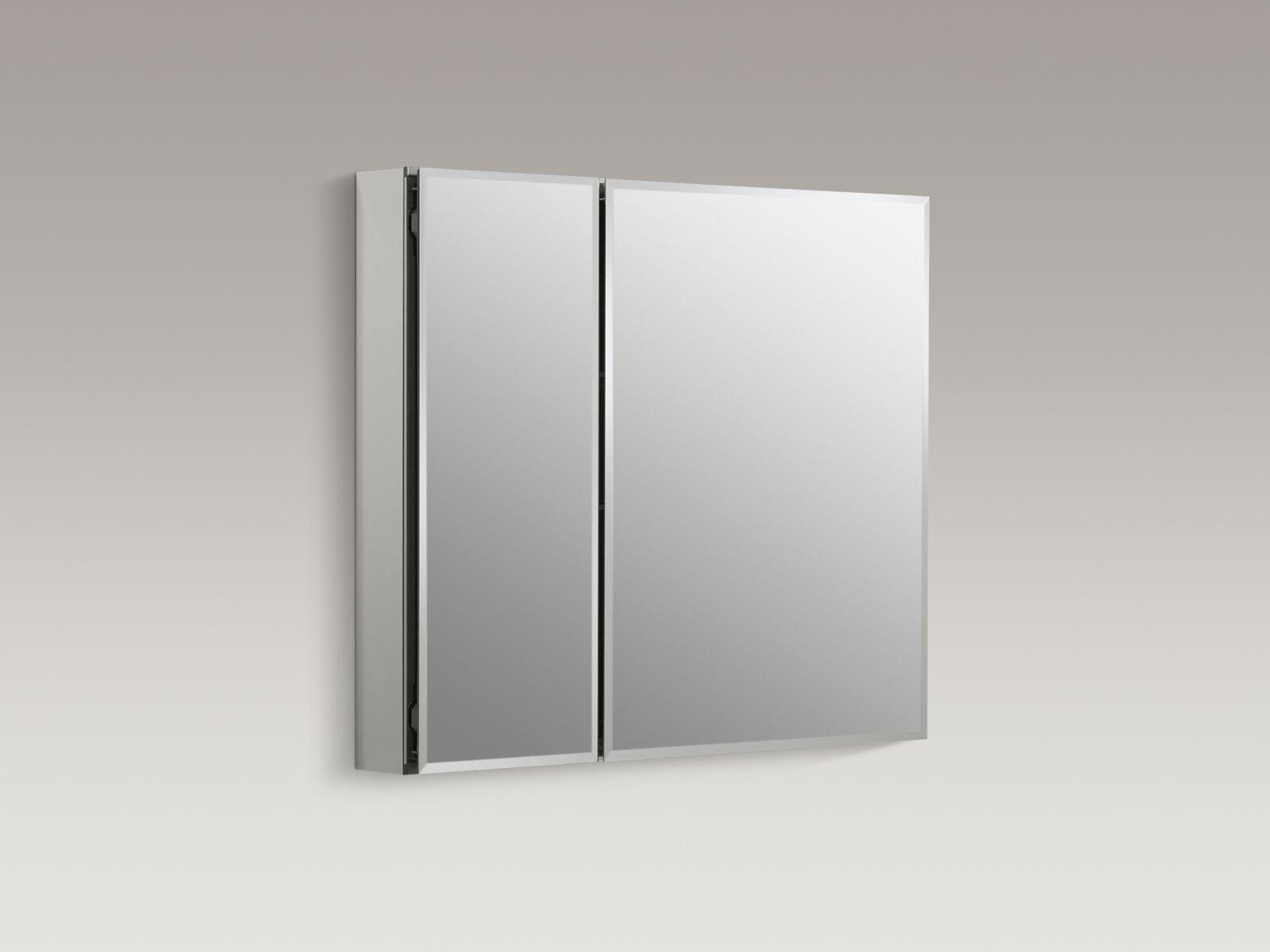 "Kohler K-CB-CLC3026FS Aluminum 30"" x 26"" Two-door Medicine Cabinet with Square Mirrored Doors"