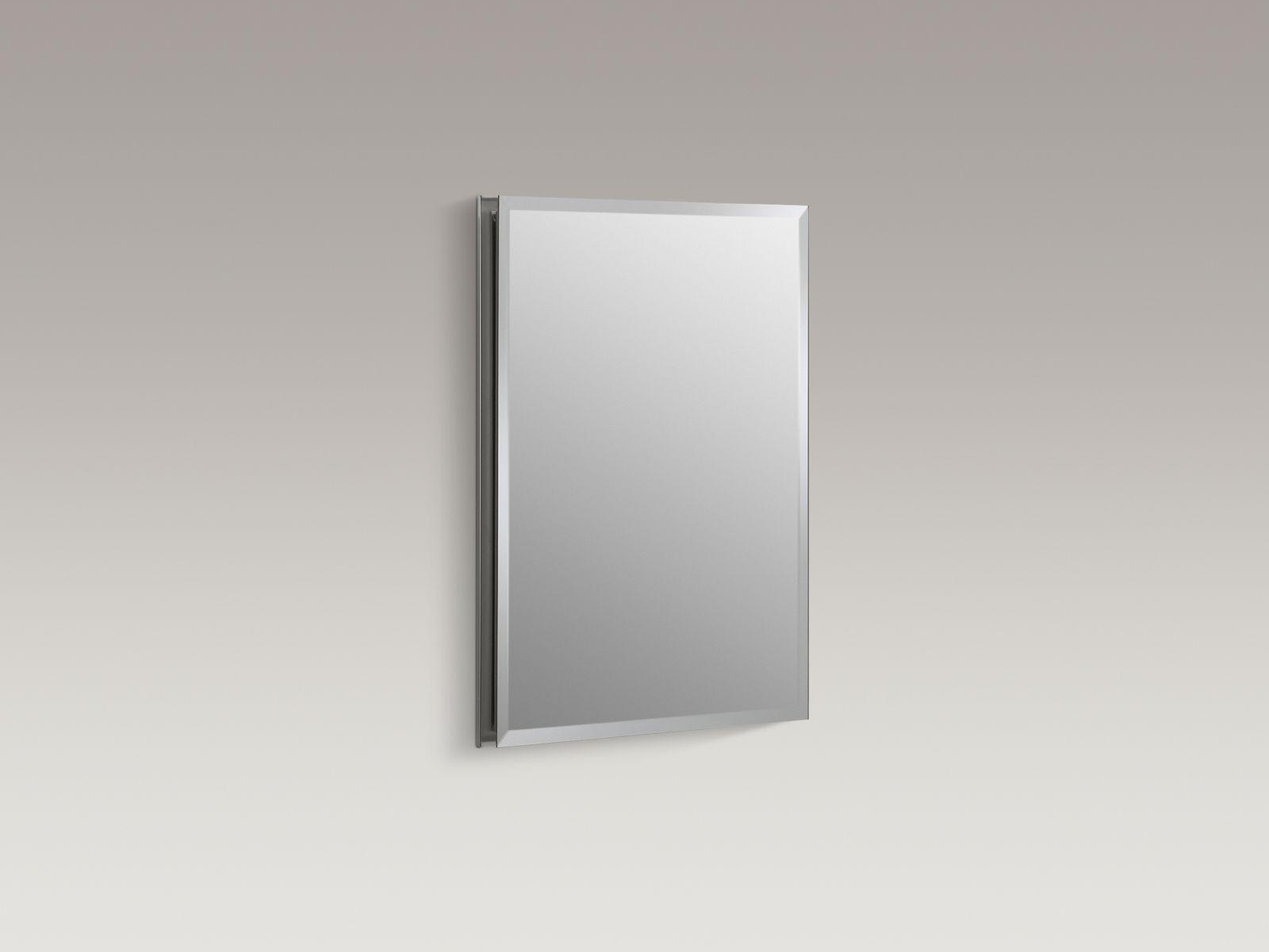 "Kohler K-CB-CLR1620FS Aluminum 16"" x 20"" Single-door Medicine Cabinet with Square Mirrored Door"