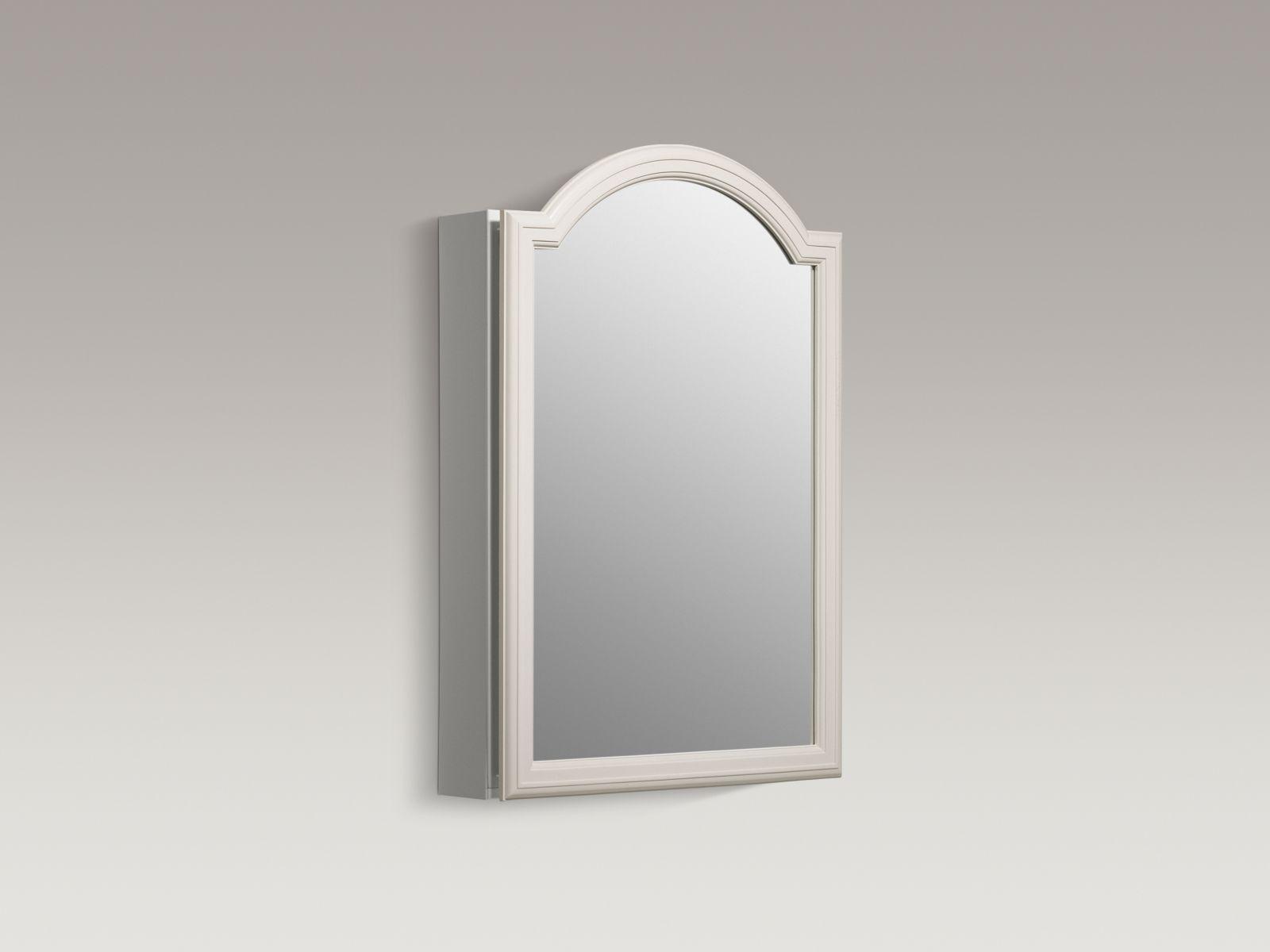 "Kohler K-CB-CLW2030DAW Devonshire 20"" x 30"" White Enameled Aluminum Single-door Medicine Cabinet with Mirror"