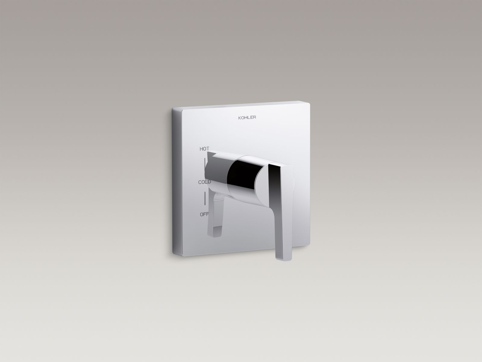 Kohler Honesty™ K-T99761-4-CP valve trim with lever handle for Rite-Temp® pressure-balancing valve, requires valve Polished Chrome