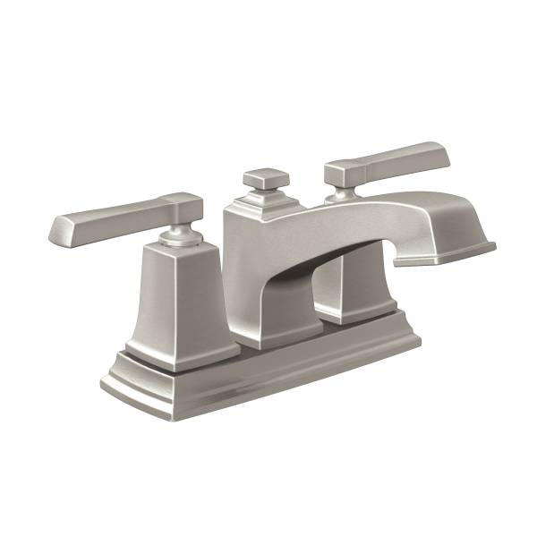 Moen 84800SRN Boardwalk two-handle low arc bathroom faucet Spot Resist Brushed Nickel