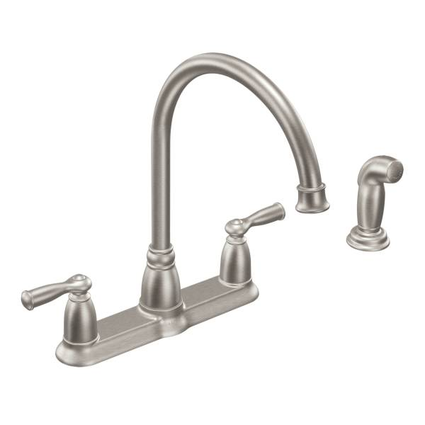 Moen CA87000SRS Banbury two-handle high arc kitchen faucet Spot Resist Stainless