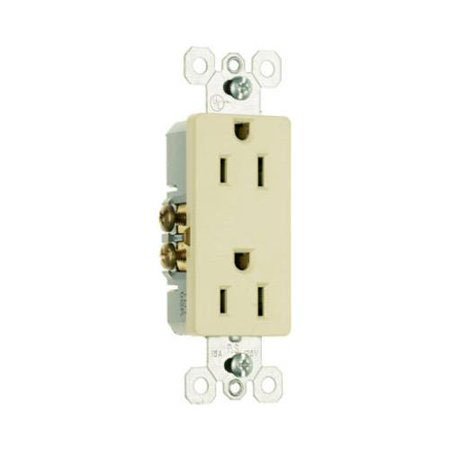 10-Pack Ivory 2-Pole 3-Wire Grounding Premium Decorator Outlets