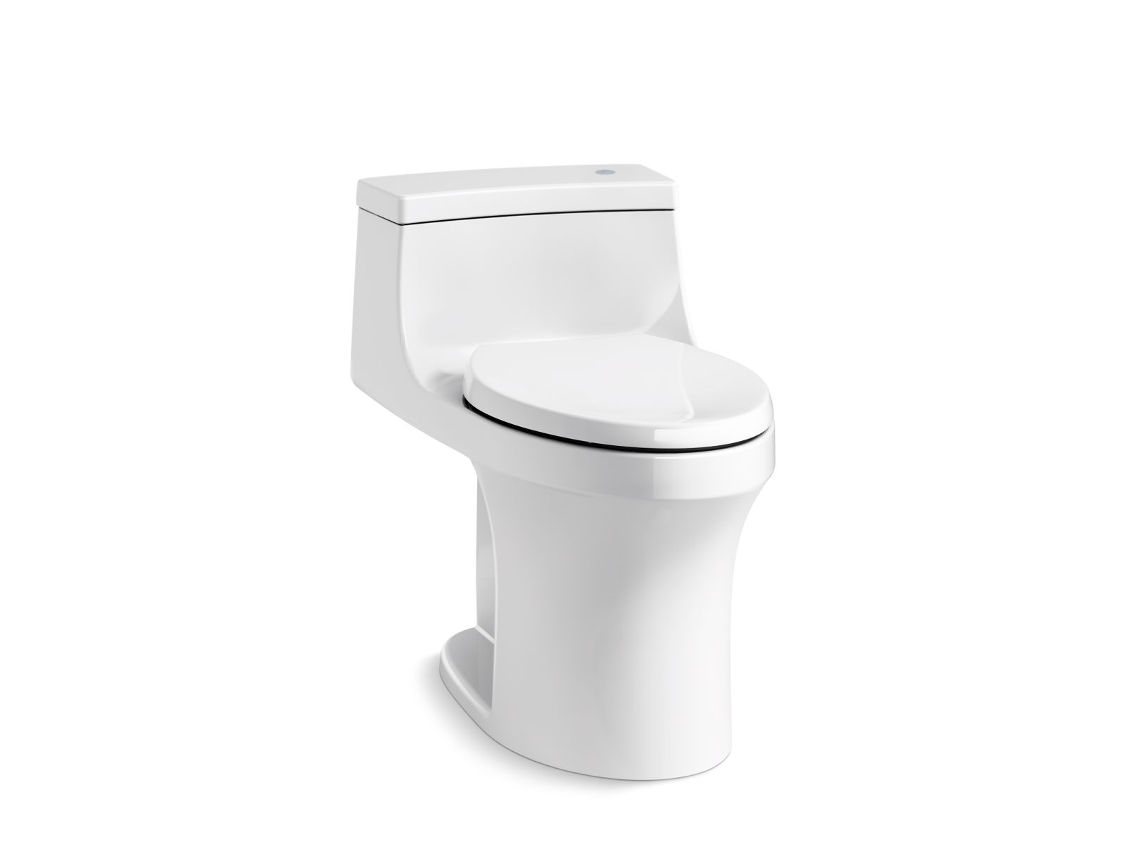 Kohler San Souci™ K-4000-0 Touchless Comfort Height® one-piece compact elongated 1.28 gpf toilet with AquaPiston® flushing technology White