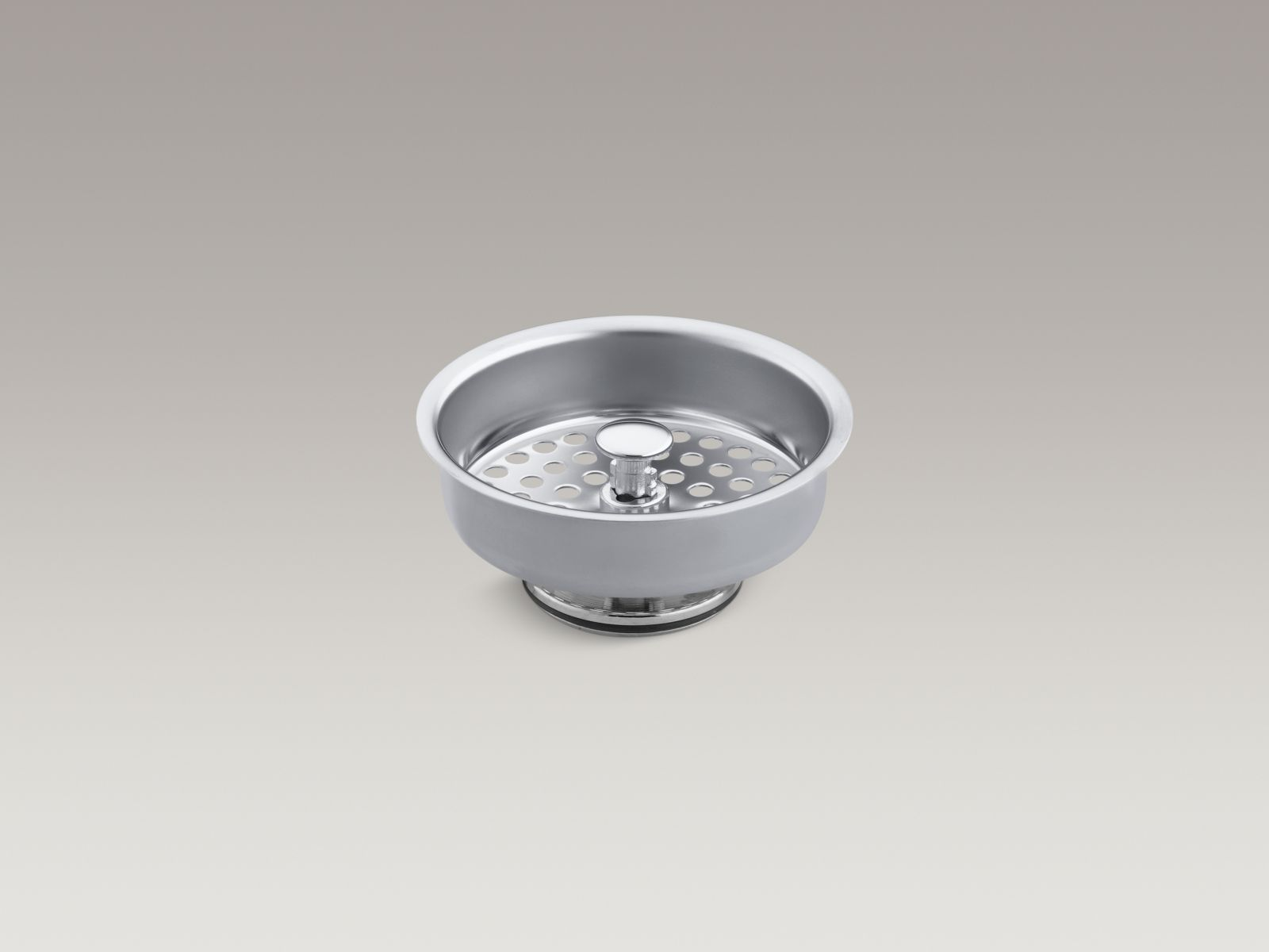 Kohler K-8803-CP Duostrainer Manual Kitchen Sink Basket Strainer Polished Chrome