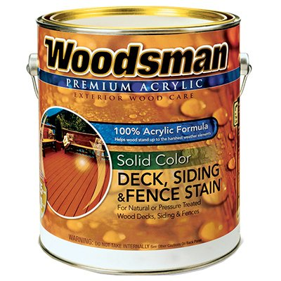 Woodsman Acrylic Latex Deck Stain, Solid White, 1-Gal., Must Purchase in Quantities of 2