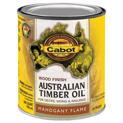 Cabot Mahogany Flame Australian Timber Oil Wood Stain Finish, Qt.