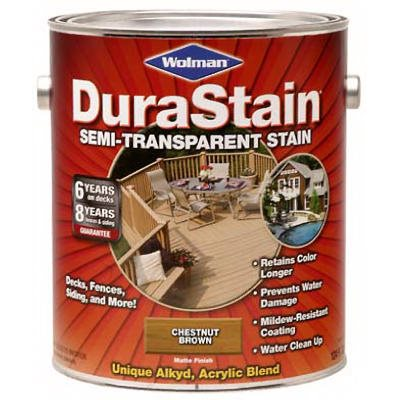 Zinsser Durastain Chestnut Brown Semi-Transparent Wood Stain, Gallon