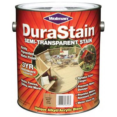 Zinsser Durastain Natural Cedar Semi-Transparent Wood Stain, Gallon