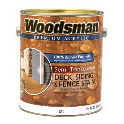Woodsman Acrylic Deck, Siding & Fence Stain, Semi-Transparent, Cedar, 1-Gal., Must Purchase in Quantities of 2