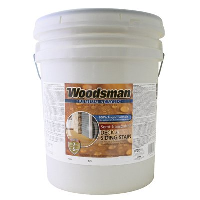 Woodsman Acrylic Deck, Siding & Fence Stain, Semi-Transparent Light Base, 5-Gals.