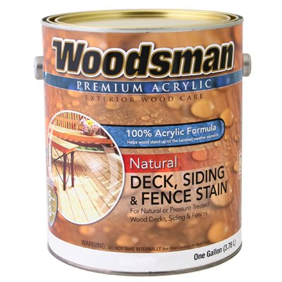 Woodsman Acrylic Deck, Siding & Fence Stain, Natural, 1-Gal.