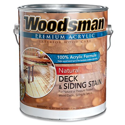 Woodsman Acrylic Deck, Siding & Fence Stain, Natural Redwood, 1-Gal.