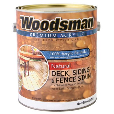 Woodsman Acrylic Deck, Siding & Fence Stain, Natural Cedar, 1-Gal.