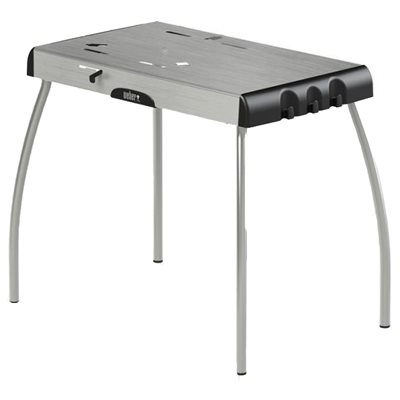 Weber Portable Charcoal-Grill Table, For Smokey Joe, Jumbo Joe, & Go Anywhere Grills