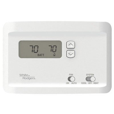White-Rodgers Thermostat, Electronic, Non-Programmable