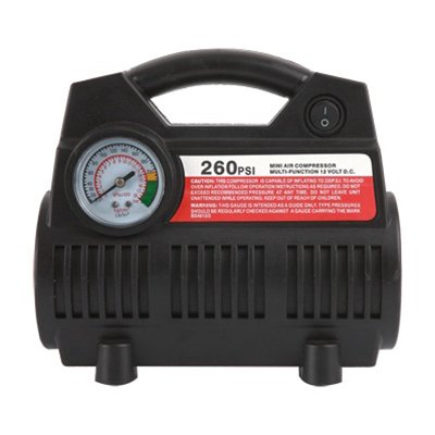 Master Mechanic Tire Inflator & Mini Air Compressor, 12-Volt, 260-Psi