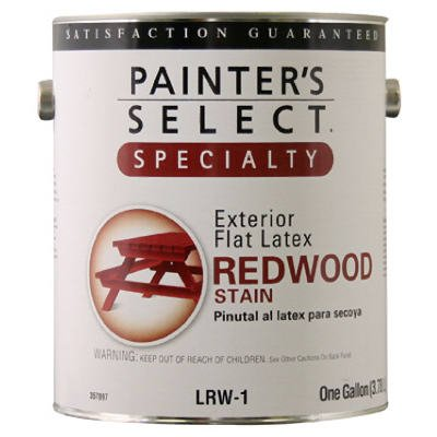 Painter's Select Specialty Flat Latex Stain, Redwood, 1-Gal.